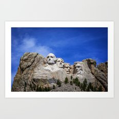Mt Rushmore Art Print