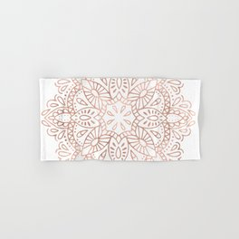 Mandala Rose Gold Pink Shimmer by Nature Magick Hand & Bath Towel