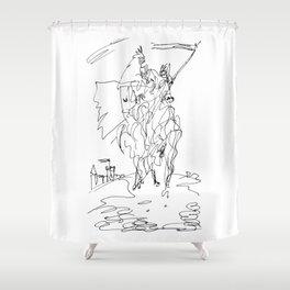 Medieval Rider Shower Curtain