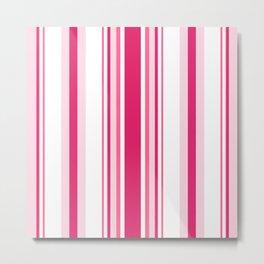 Pink 'alicious Stripes Metal Print