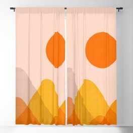 Abstraction_Mountains_02 Blackout Curtain