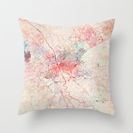 Columbia map South Carolina painting Throw Pillow