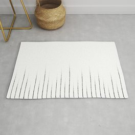 Lines in white Rug