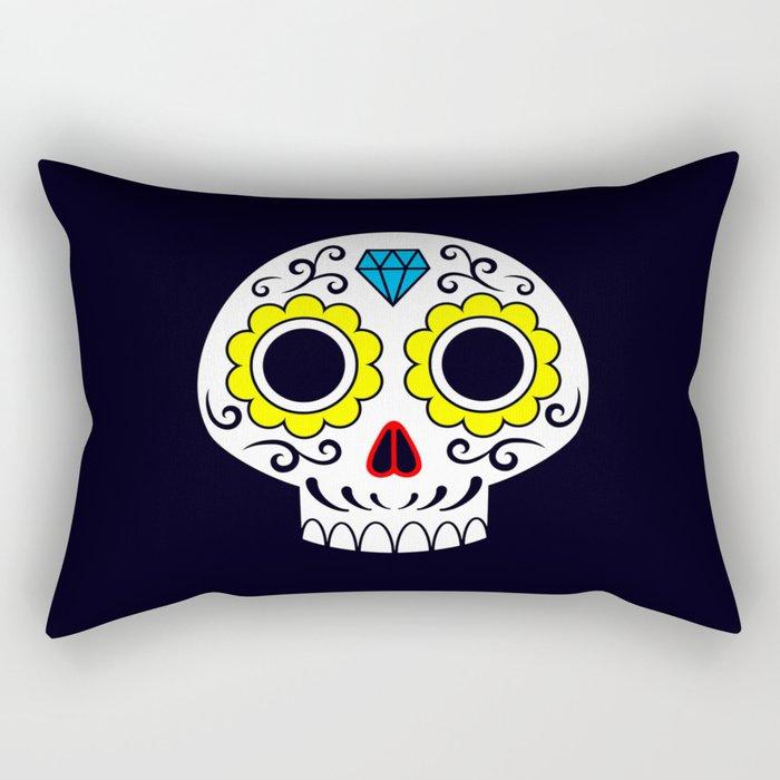Sugar skull for a cake Rectangular Pillow