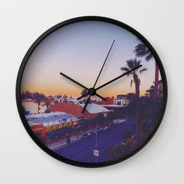 Old Town Twilight Wall Clock