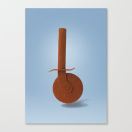Pizza knife and paprika Canvas Print