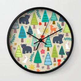 summer woodland Wall Clock