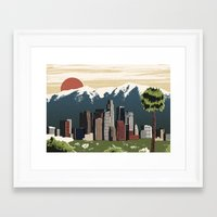 los angeles Framed Art Prints featuring Los Angeles by Sam Brewster