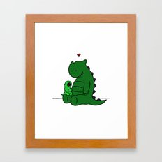 Monster Yawn  Framed Art Print