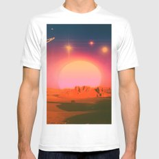 The Distance Between Us White MEDIUM Mens Fitted Tee