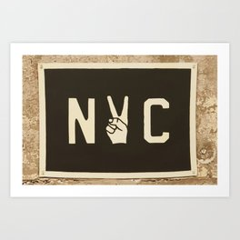 NYC Peace Sign (Color) Art Print