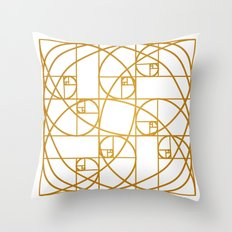 Golden Ropes Throw Pillow
