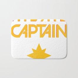 O captain! My captain! - Carol Danvers Bath Mat