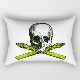 skull asparagus Rectangular Pillow