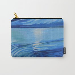 Moonlit Blue Sea Oil Painting Carry-All Pouch
