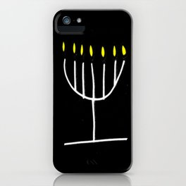 menorah,Hanukkah,jewish,jew,judaism,Festival ofLights,Dedication,jerusalem,lampstand,Temple iPhone Case