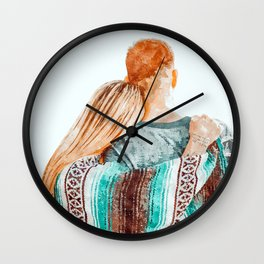 You Are My Sun, My Moon & All My Stars #painting #illustration Wall Clock