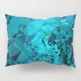 Teal Geometric Pattern Pillow Sham