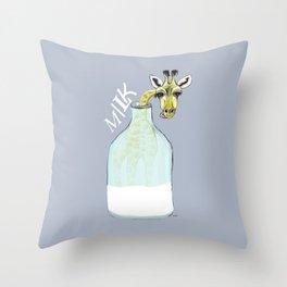 giraf milk Throw Pillow