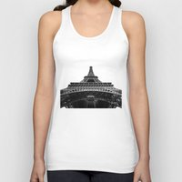 eiffel tower Tank Tops featuring Eiffel Tower by Evan Morris Cohen