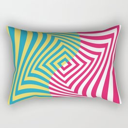 Colorful distorted Optical illusion art Rectangular Pillow