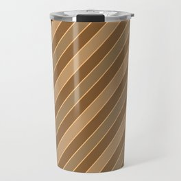 Brown stripes pattern Travel Mug