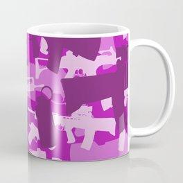 Military Camouflage Neck Gator Purple Camo Weapons Coffee Mug