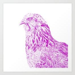 she's a beauty drawing, purple Art Print