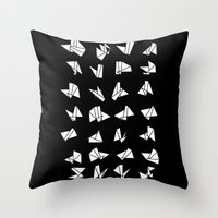 origami Throw Pillows featuring origami by spinL