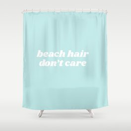 beach hair Shower Curtain
