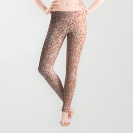 Abstract modern white rose gold glam glitter Leggings