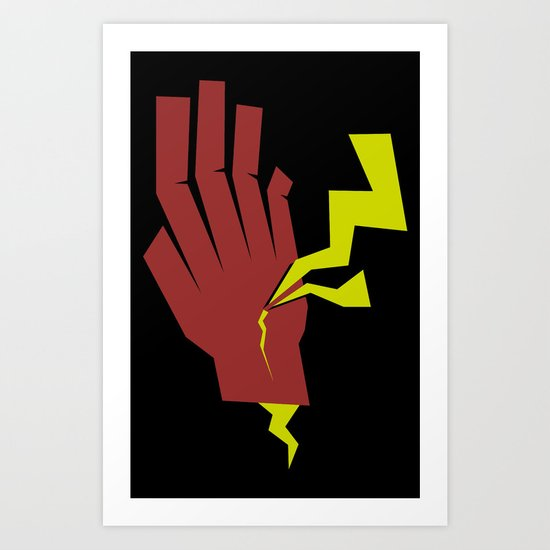 Stopping Lightning Art Print