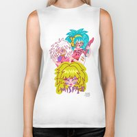 misfits Biker Tanks featuring Misfits Jem and the Holograms by Lady Love