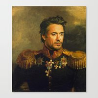 robert downey jr Canvas Prints featuring Robert Downey Jr. - replaceface by replaceface