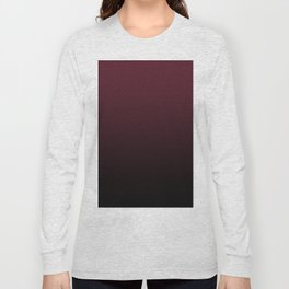 Burgundy Wine Ombre Gradient Long Sleeve T-shirt