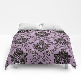 Pink Damask pattern,chic,elegant,great Gatsby,belle epoque,trending,fan pattern,victorian,modern pa Comforters