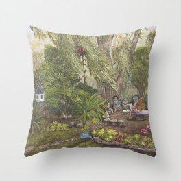 Faerie Garden Letters Throw Pillow