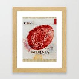 B is for Bird Influenza Framed Art Print