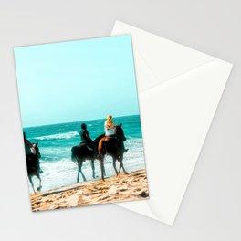 blue ocean with sandy beach at Oxnard Beach, California, USA Stationery Cards