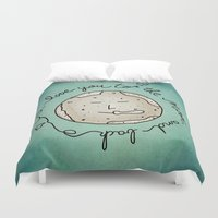 i love you to the moon and back Duvet Covers featuring I Love You To The Moon And Back (blue) by Sandra Arduini