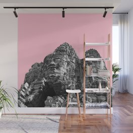 Part of Angkor Wat with pink Wall Mural