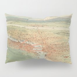 Vintage Pictorial Map of Portland OR (1896) Pillow Sham