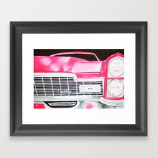 Pink Cadillac - Cotton Candy  Framed Art Print