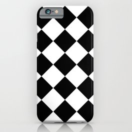 Diamond Black And White iPhone Case