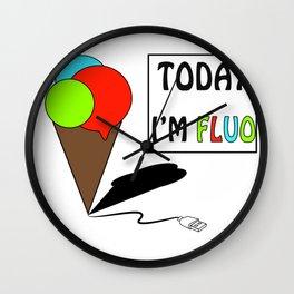 GelatoUsb - today i'm FLUO Wall Clock
