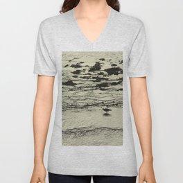 Curlew Wader Bird Rocky Seashore Unisex V-Neck
