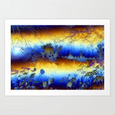 ABSTRACT - My blue heaven Art Print