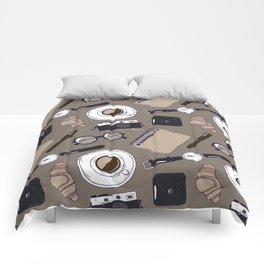 Hipster workplace elements Comforters