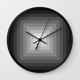 black and white tunnel Wall Clock