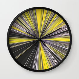 Lightspeed Yellow Grey and white Wall Clock